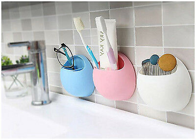 Bathroom Shower Kitchen Suction Cup Wall Mounted Toothbrush Holder Wall Stand