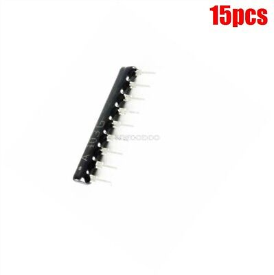 15Pcs Network Array Sip9 Film Resistor 10K Ohm Ck Thick Ic New O