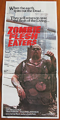 ZOMBIE FLESH EATERS aka ZOMBI 2 (1979) Original Daybill Movie Poster LUCIO FULCI