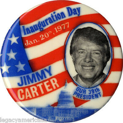 1977 Jimmy Carter INAUGURATION DAY Souvenir Button (4997)