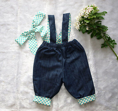 Baby Girls Overalls, Girls overalls, Fully lined overalls, Size  1 FREE Headband
