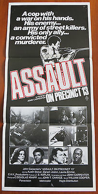 ASSAULT ON PRECINCT 13 (1976) Original Australian Daybill Movie Poster Cult