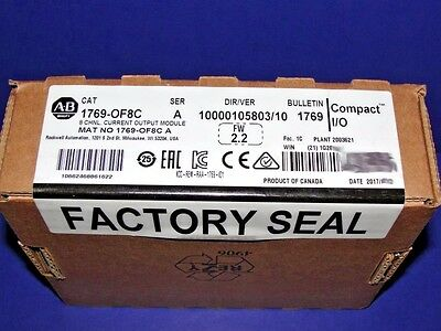 2017 FACTORY SEALED Allen Bradley 1769-OF8C /A Analog Module CompactLogix