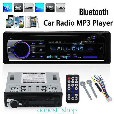 Bluetooth Car In-Dash FM Radio Stereo Audio Receiver SD USB Aux-In MP3 Player