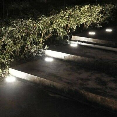 6x Solar Powered LED Buried Inground Light Garden Outdoor Pathway Path Lawn Lamp