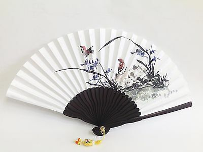 Art Hand fan Orchid Iris Traditional Collapsible 25cm 9.84 inch