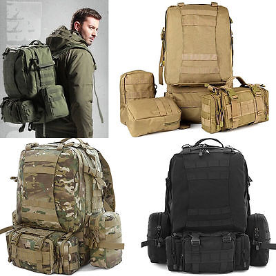 50L Big Outdoor Sport Tactical Camping Hiking Military Backpack Rucksacks Bag BT