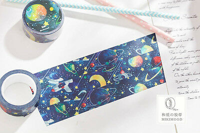 spaceship starry sky universe Washi paper Masking Tape stickers Scrapbook Decal