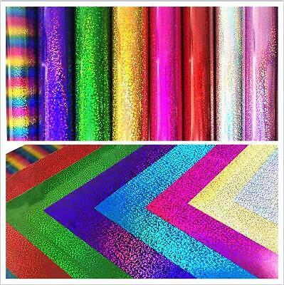 A4 Sheet Glitter Holographic Iron-on PVC Heat Transfer Vinyl Cutting Film Zaione