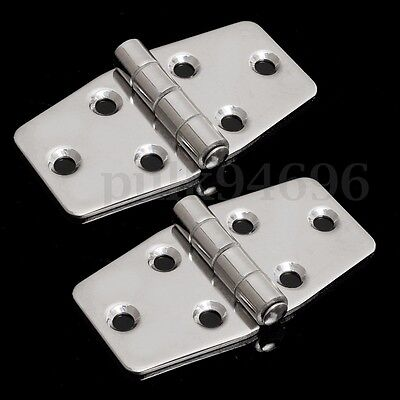 2x 3″ Stainless Steel Marine Boat Hatch Flush Door Compartment Hinges Replacment