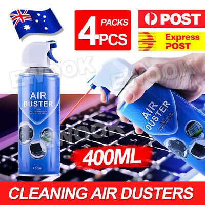 OZ 4 x 400ml Compressed Air Duster Spray Can Laptop Keyboard Mouse Cleaner