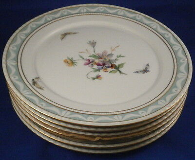KPM Berlin Porcelain Kurland Pattern Decor 41 Six Lunch Plates Porzellan Teller