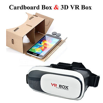 Cardboard VR Box Reality Glasses 3D Google Video Film for iPhone /Android Phone