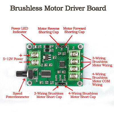 Driver Board DC 5V-12V 1.2A DC Micro Brushless Motor  Speed Controller Module