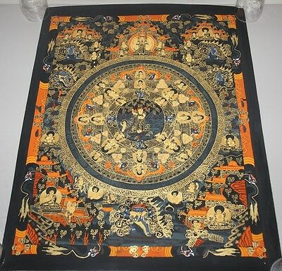 Original Tibetan Chinese Mandala Thangka Hand Painting Buddha Meditation Art 500