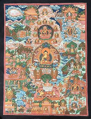 Original Tibetan Chinese Mandala Thangka Hand Painting Buddha Meditation Art 108