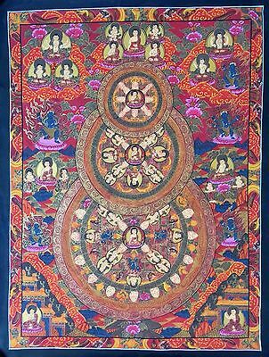 Original Tibetan Chinese Mandala Thangka Hand Painting Buddha Meditation Art 104
