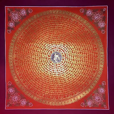 Original Tibetan Chinese Mandala Thangka Hand Painting Buddha Meditation Art 110