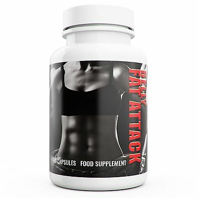 Belly Fat Attack Xtreme Fat Burner 60 Capsules Strongest Diet Weight Loss Pills
