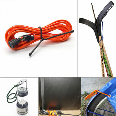 Reusable Rubber Gear Twist Ties Bendable Wire Cable Cord Holder Organizer 24Pcs
