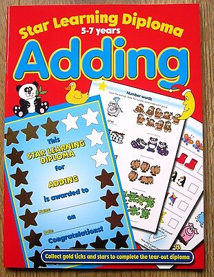 Maths Adding Fun Educational Activity Book age 5 6 7 years 1 2 Workbook Games