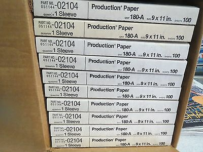 Sand Paper 3M Production 100 Sheets 180-A Grit in each Sleeve - NEW