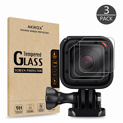 New Gopro Hero 4 5 Session LCD Lens Tempered Glass Screen Protector 3 Pack Brand