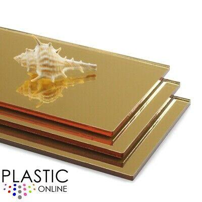 Gold Acrylic Mirror Sheet Plaskolite Perspex Plastic Safety Mirror Child Safe