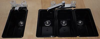 Sm Black Concession Stand Sinks/ Sinks For (3) Compartment+ Hand Wash
