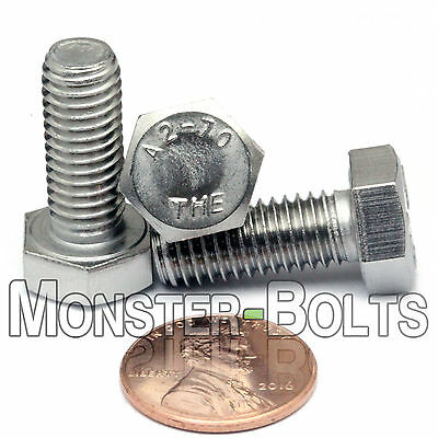 8mm / M8 x 1.25 - Stainless Steel Hex Cap Bolts / Screws Coarse DIN 933 931 A2