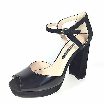 bbff5599fc3 French Connection Dita Women s Size 10 M Black Suede Platform Heel Sandals  Shoes