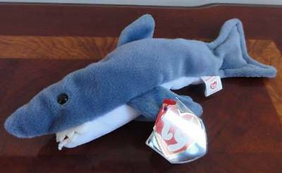 TY BEANIE BABIES BABY CRUNCH the SHARK STYLE 4130 DOB 1-13-96 MWNMT PVC PELLETS