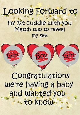 Congratulations we're having a baby PREGNANCY ANNOUNCEMENT a5 card codenew