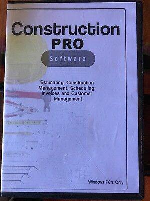ConstructionPRO Estimating And Management Software, 2017, PC CD-Rom, Windows
