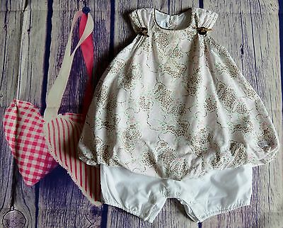 Dior Baby Girls Designer Clothes Pretty Puffed Romper Dress 18 Months VGC