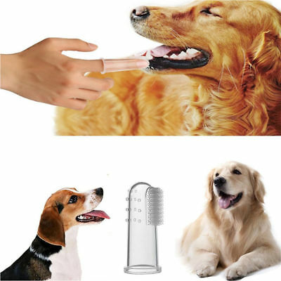 Pet Finger Tooth Brush Dental Hygiene Cleaning Brushes for All Size Cat Dog 8Pcs