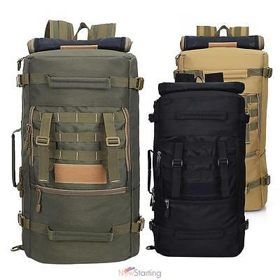 Large 50L Outdoor Tactical Molle Military Rucksacks Backpack Travel Camping Bag