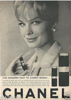 1965 Candice Bergen CHANEL No 5 Spray Perfume Cologne Vintage Fragrance Print Ad