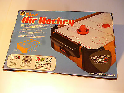 Mini Air Hockey Table With Air Cushioning. Red5 Gadget Shop - NEW - UNOPENED