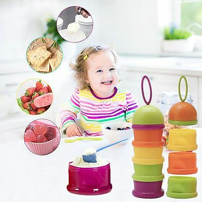 Random Color Formula Container Feeding Box Milk Powder Dispenser Food Storage