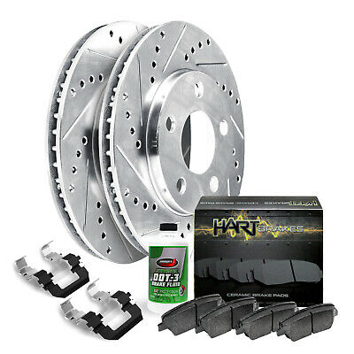 Fits 2006-2011 Buick Lucerne Front Drill Slot Brake Rotors+Ceramic Pads
