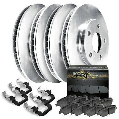 Fits 2006-2011 Buick Lucerne Front Rear Blank Brake Rotors+Ceramic Pads