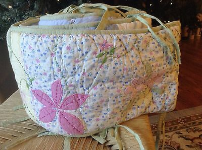Does This Match Your Baby Girl's Pottery Barn Crib Set~Bumper Pad~VGUC