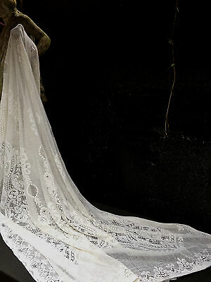Stunning Antique Cotton Lace Curtain