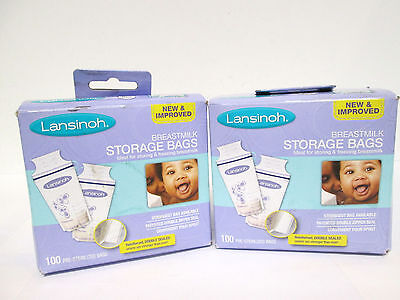 Lansinoh Breastmilk Storage Bags - 100 pre-sterilized bags (2 pack) [MB-A-L]
