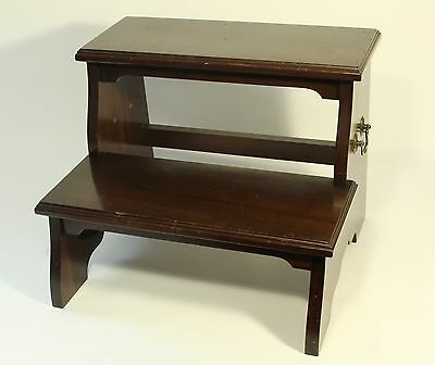 vtg Ethan Allen Georgian Court Chippendale Style Bed Steps 11-3034 04-12-87 Used