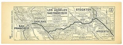 1920's Los Angeles to San Francisco, AAA Automobile Club of Southern Calif Map