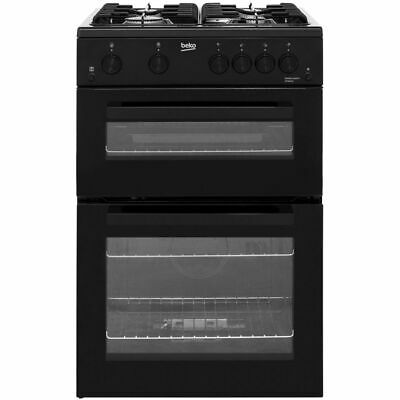Beko KTG611K Free Standing Gas Cooker with Gas Hob 60cm Black New
