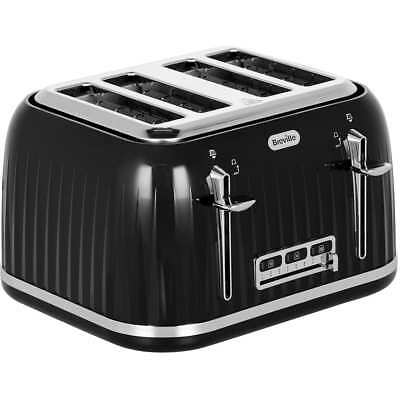 Breville VTT476 Impressions 4 Slice Toaster Black New from AO