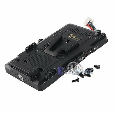 Rolux RL-BMG V-Lock V-Mount Battery Power Supply Plate For Blackmagic URSA Mini